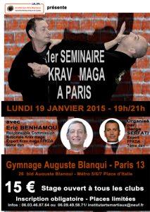 Stage_SeminaireKravmaga_190115_Affiche