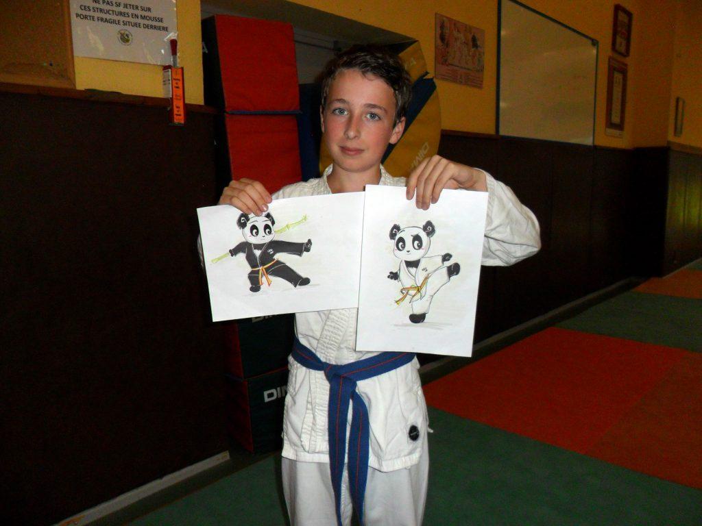 """Bastien, gagnant du concours """"Dessine-moi un panda"""" - © DR"""