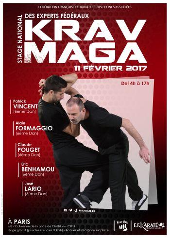 Krav maga f d ration fran aise de karat et disciplines - Institut national du judo porte de chatillon ...