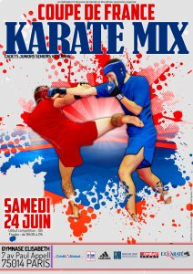 Affiche - Coupe de France Karaté Mix_VCasques