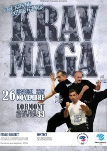 Affiche - Stage National Experts fédéraux - Krav Maga_BD