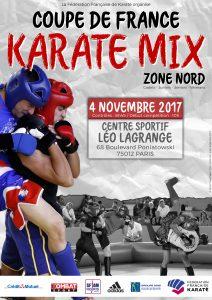 Affiche - Coupe de France Karaté Combat Zone Nord