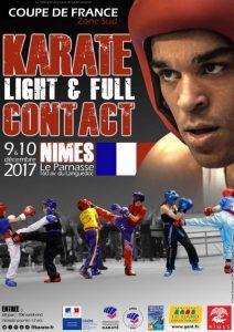 Affiche - CDF ZSud Karaté Light et Full Contact_V2