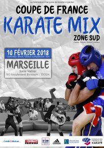 Affiche - Coupe de France Karaté Combat Zone Sud