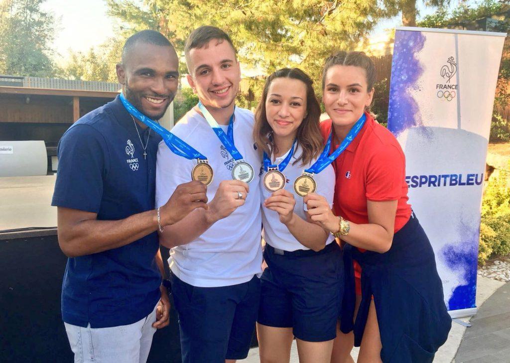 Les 4 médaillés : Marvin Garin, Jessie Da Costa, sabrina Ouihaddadène et Nancy Garcia