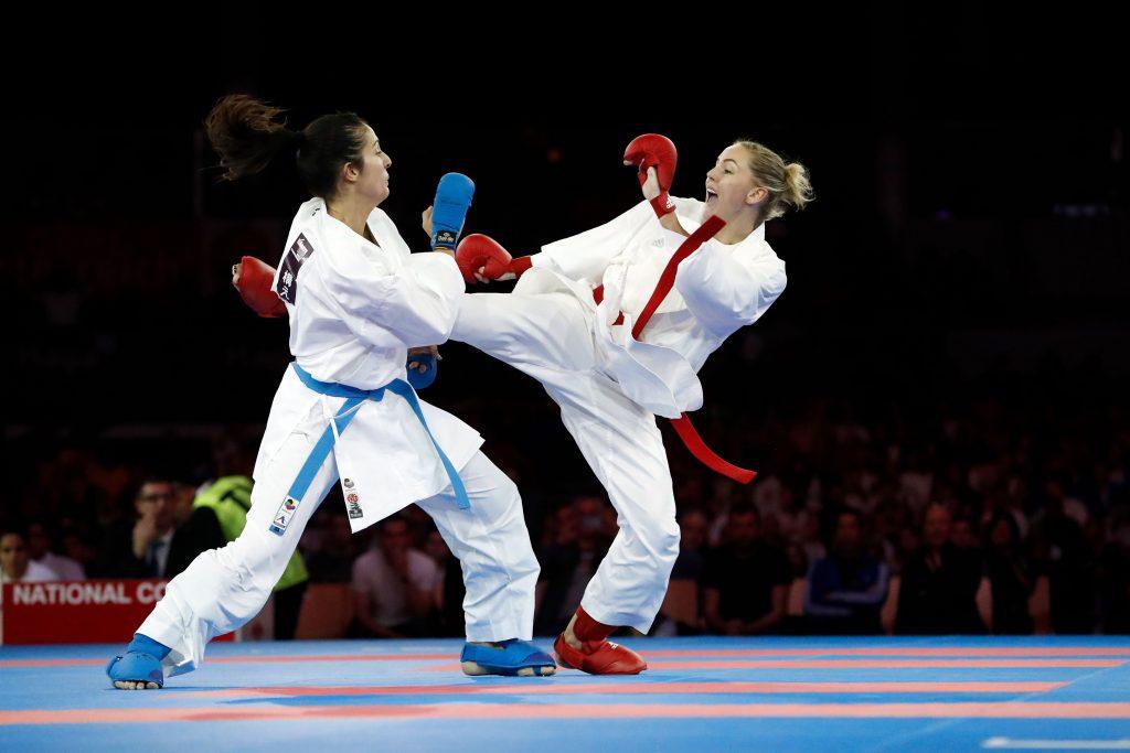 combat feminin par équipe finale france vs espagne agier (alizée) (fra) ceinture rouge