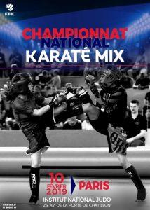 Affiche Championnat National Karaté Mix 10 février 2019