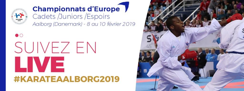 Suivez les Championnats d'Europe C/J/E 2019 – Fédération