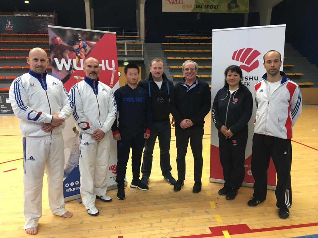 De gauche à droite : Rodolphe Doppler Battesti, Ludovic Darner, Lin Hou, Xavier Guichard, Pascal Couraye De Parc, Xiaofen Fang et Léo Benouaich